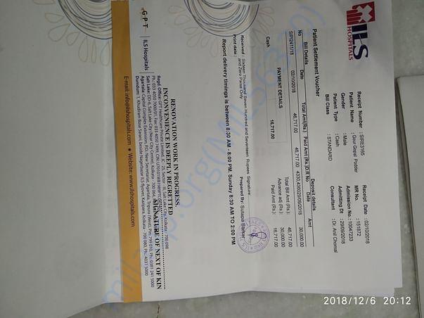 Final Hospital Bill in Kolkata