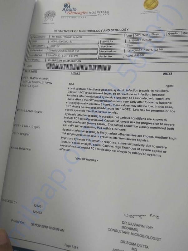 Patient report Apollo