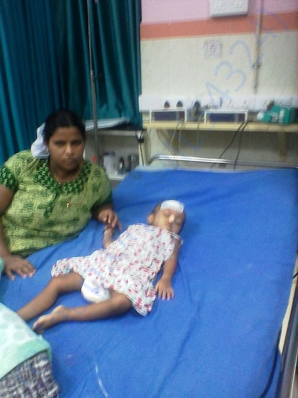 Sanidhya is in Calicut medical collage after her brain surgery