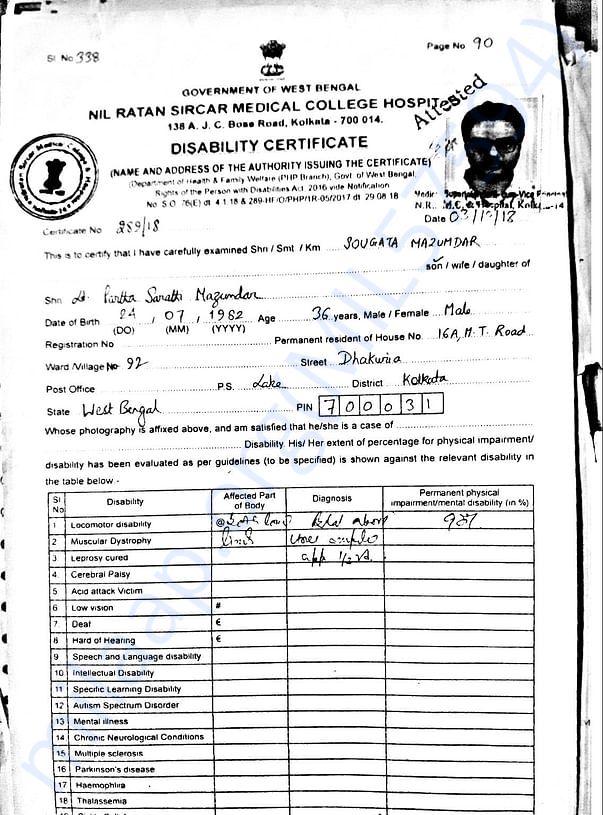 Handicapped certificates