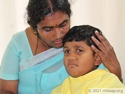 Farmer Struggles To Save Son From Cancerous Tumour On No Income