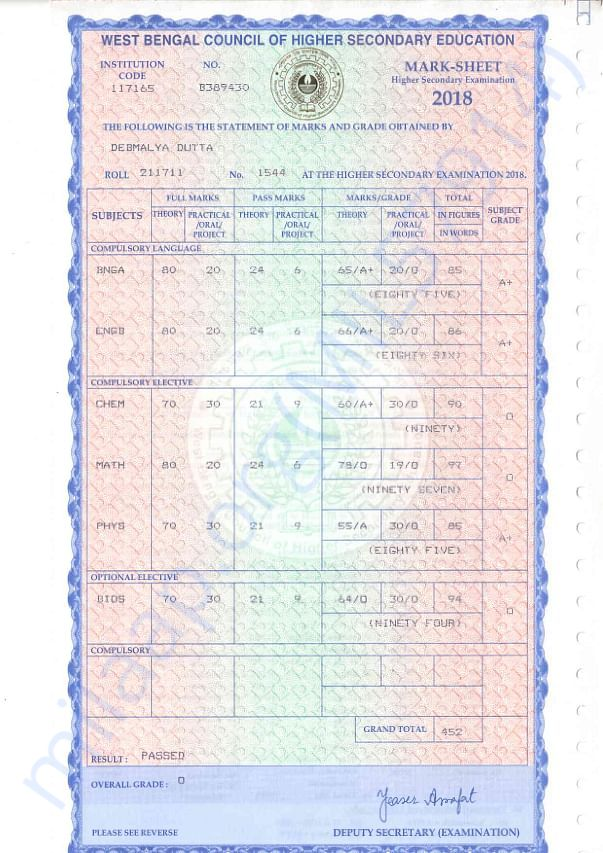 H.S. Marks Card