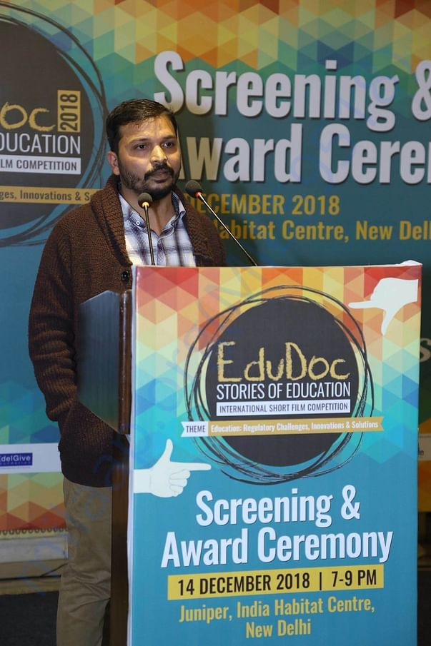 This is me during the EduDoc fellows award