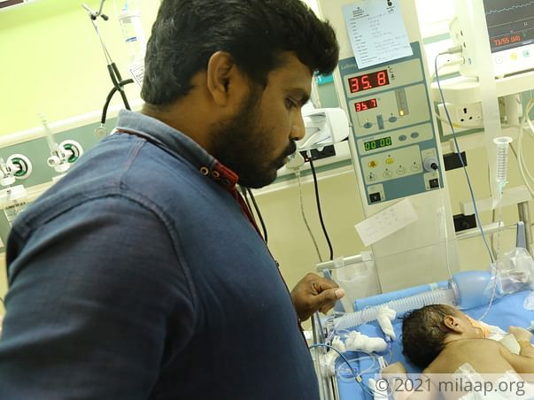 Unemployed For Almost A Month Now, Father Needs Help To Save His Baby