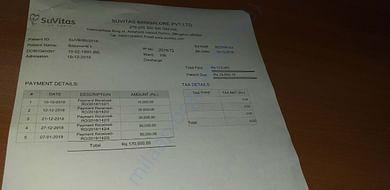 Recent bills paid