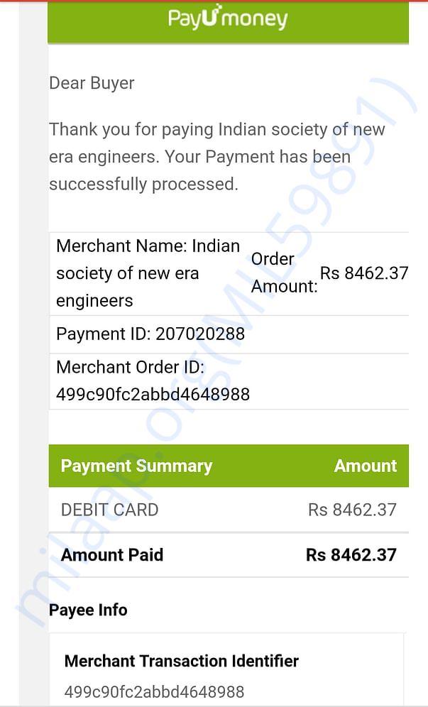 registration payment details