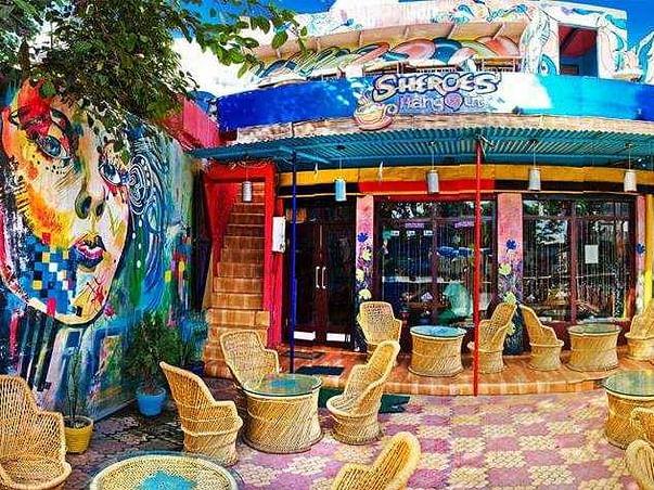 Rebuilding Acid Attack survivor's cafe Sheroes, empowering 10 women