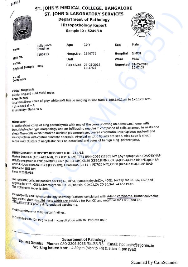 Histopathology Report 1