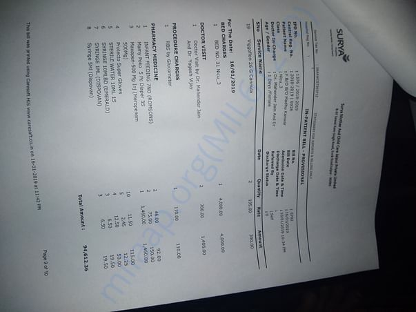 Money for medical tteatment
