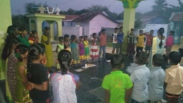 Rural evening classes of working village of READ