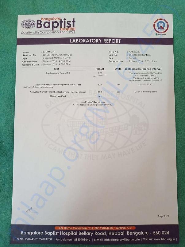 LAOBORATORY REPORT