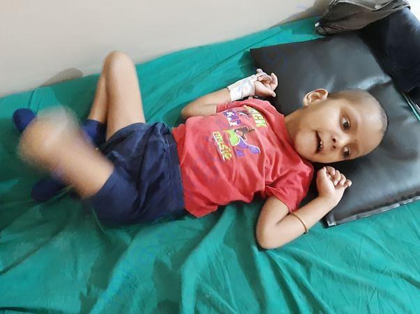 SAMARTH photo that he is admitedd in hospital
