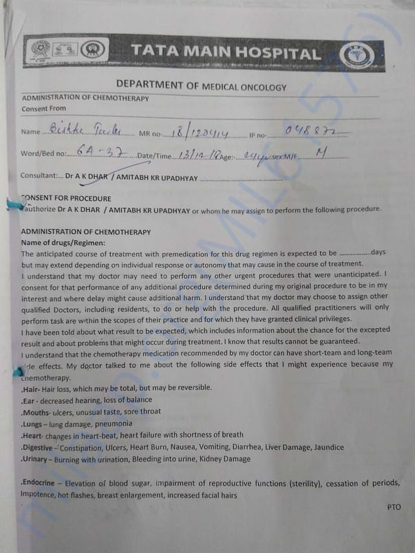 Chemotherapy Consent Form-1