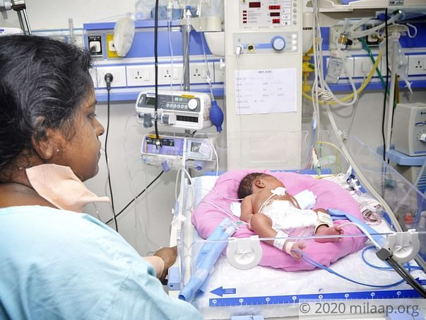 Help Baby of Vijayalakshmi's Twins Get Treated In NICU