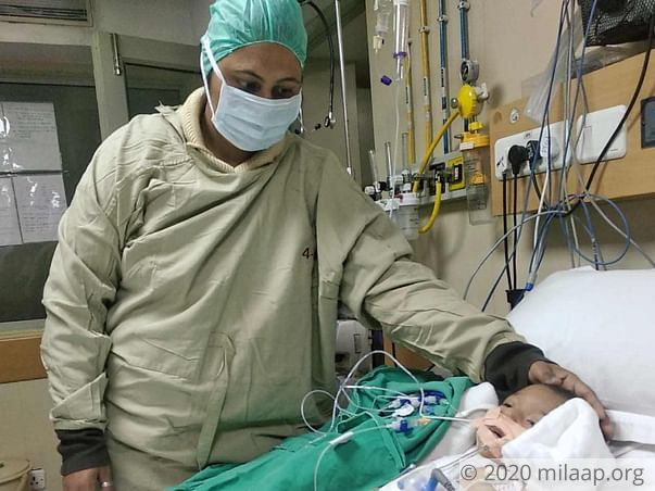 With Father Toiling Away In The Gulf, Mother Struggles To Save Baby