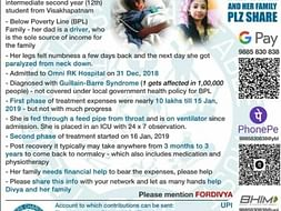 Help Divya who is suffering with GB Syndrome