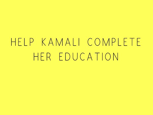 Help Kamali Complete Her Education