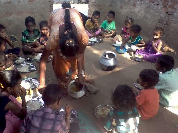 Sponsor Midday Millet Meal For 143 Kids in Hamlets