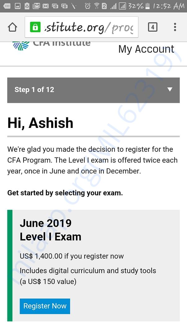 CFA Level june 2019