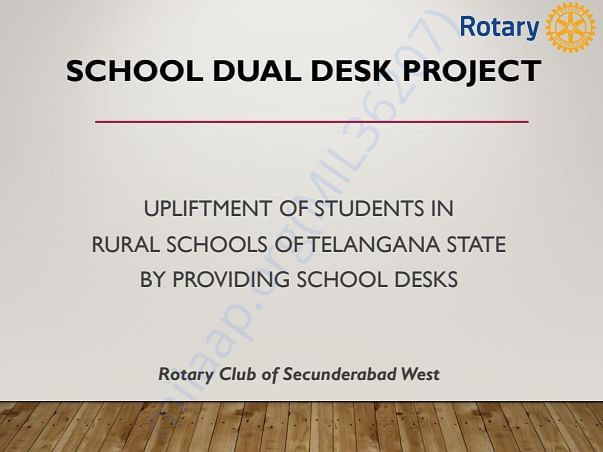 School Dual Desk Project in RURAL Schools of Telengana State