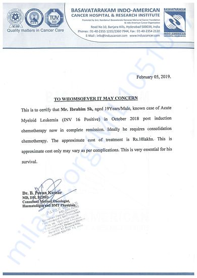 Doctor letter about the issue