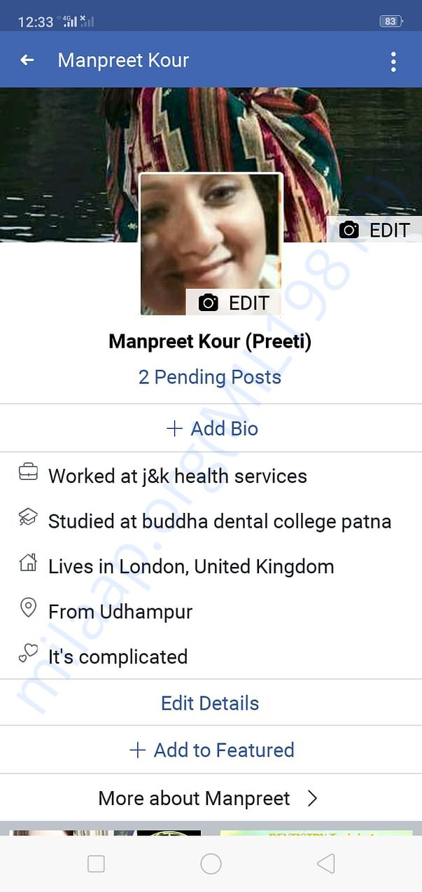 Dr Manpreet fb profile