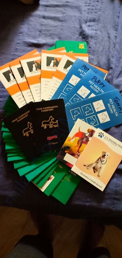 Vaccination booklets