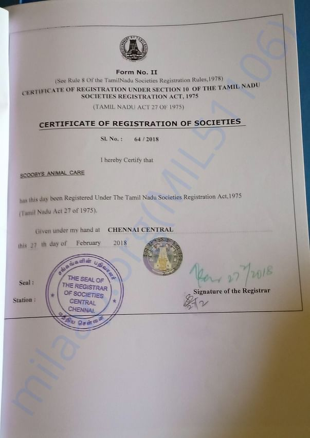 Charity Registration Certificate
