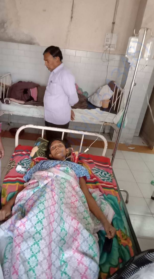 Rajkumar mother on the hospital bed