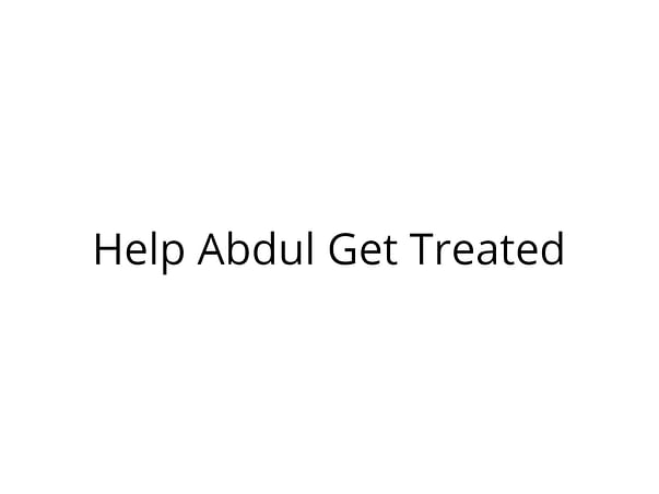 Help Abdul Get Treated for Blood Clot in Brain