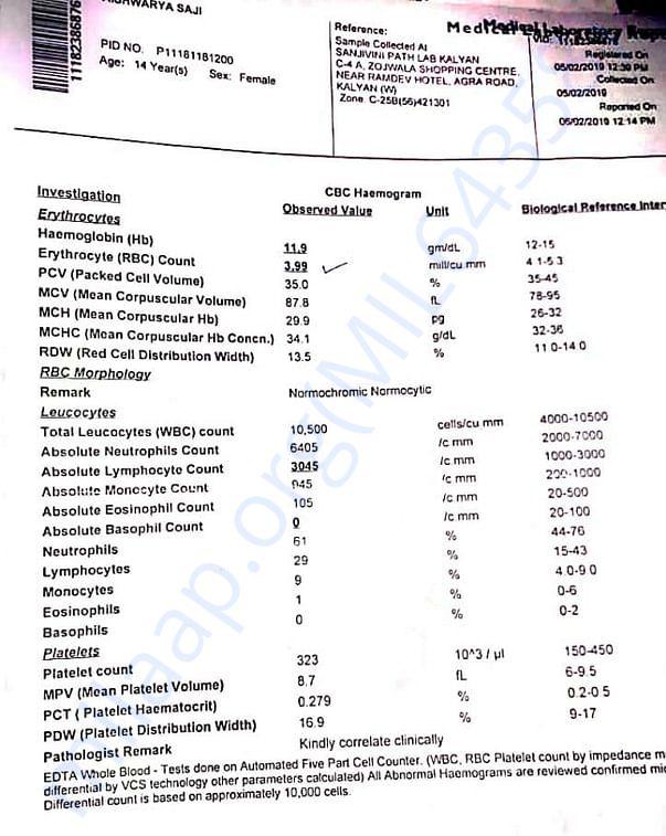 New medical report (5-2-19)