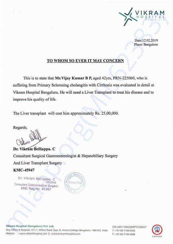 Liver transplant charges