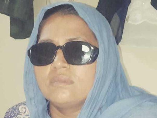 My mother eye operation