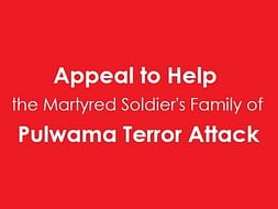 Let's Help the Martyred Soldier's Family Of Pulwama Terror Attack.