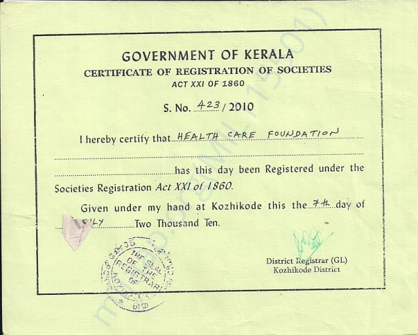 Soceities registration act