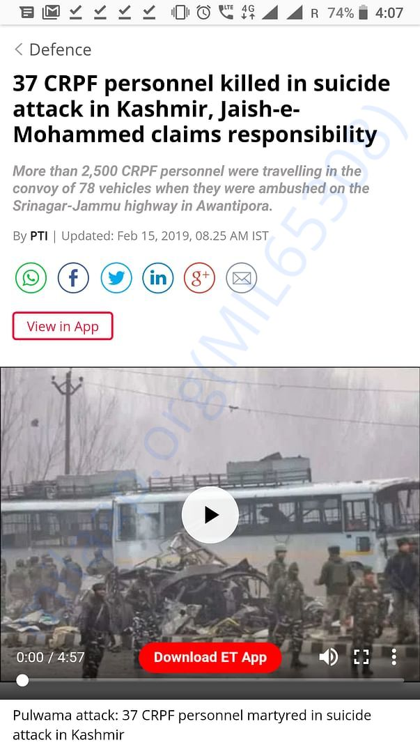 Salute to all CRPF personnels! Who lost their lives in this attack!