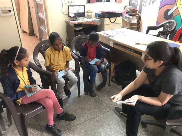 Mentoring session with the children