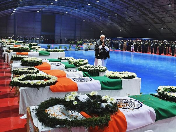 Extending Support to the families of the Pulwama Martyrs.
