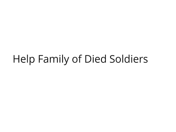 Help Family of Died Soldiers