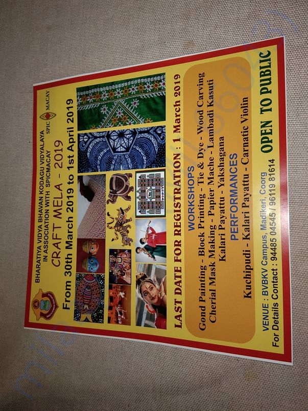 Craft Workshop in association with SPICMACAY