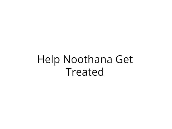Help Noothana Fight Cancer