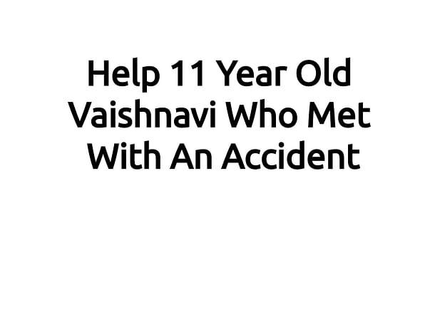 Help 11 Year Old Vaishnavi
