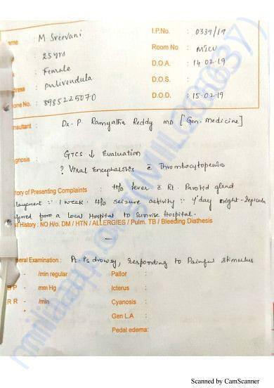 Hospital Document