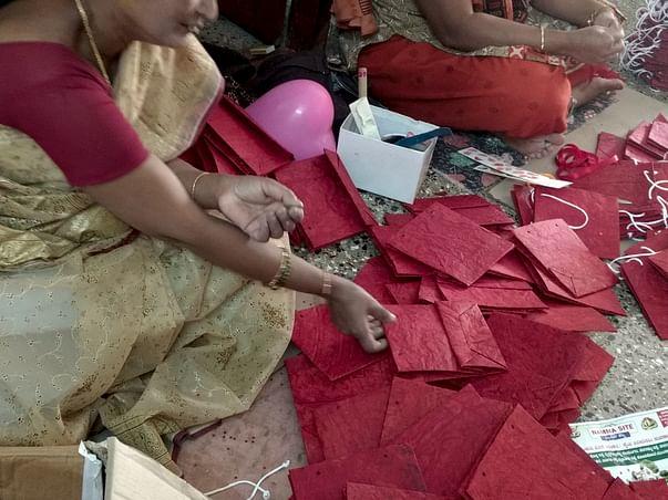 Help Fund URVEE Empower Domestic Help make Paper Crafts & Ban Plastic