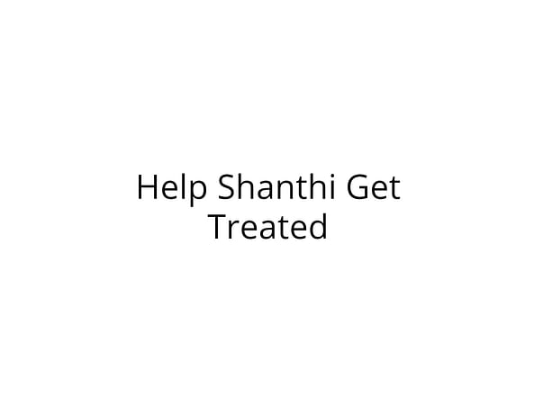 Help Shanthi Get Treated for Paralysis