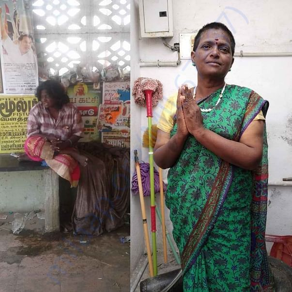 Lakshmi srinivas Amma have been rescued from begging on 3rd March