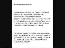 Help Luv Karya Present A Paper At Oxford University