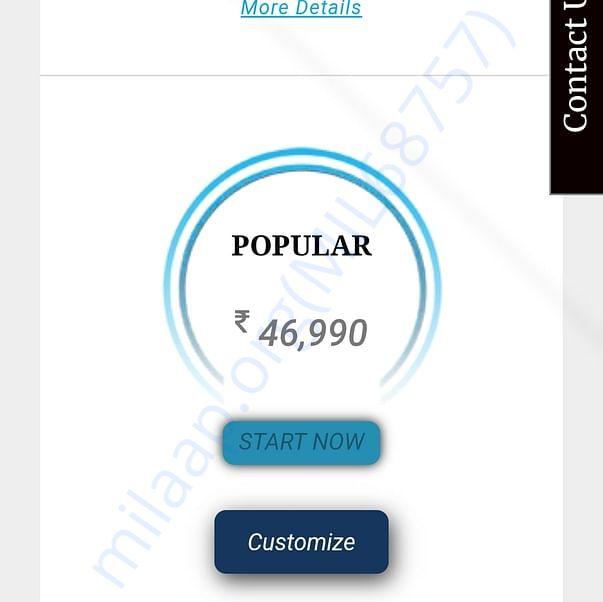 Publishing actual amount 46000 + gst upto 8000