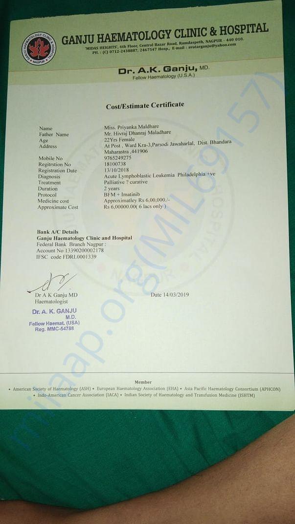 Cost/Estimate Certificate