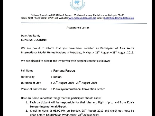 Help Me To Represent My Nation In AYIMUN
